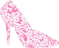 Floral high heel. A silhouette of a floral high heel Stock Image