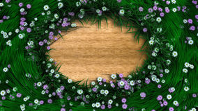 Floral holiday background border with flowers and plants Royalty Free Stock Images