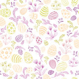 Floral holiday pattern. Easter egg seamless background. Stock Images