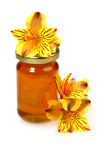 Floral honey and flowers Royalty Free Stock Images
