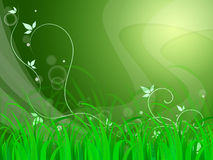 Floral Horizon Background Shows Natural Field Or Fresh Environme Royalty Free Stock Photos