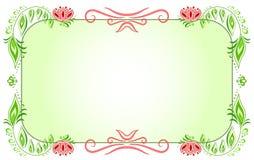 Floral horizontal green frame_2 Stock Photos
