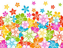 Floral horizontal seamless background. Vector Floral horizontal seamless background Royalty Free Stock Images