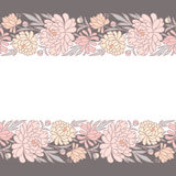 Floral Horizontal Seamless Pattern. Royalty Free Stock Photography