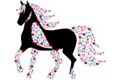 Floral horse Royalty Free Stock Images