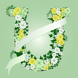 Floral horse shoe Stock Image