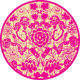 Floral icon Stock Images