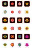 Floral Icon Set Royalty Free Stock Image