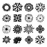 Floral icon set. Abstract floral icon set, isolated from background royalty free illustration