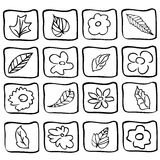 Floral icons Stock Photography