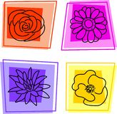 Floral icons Royalty Free Stock Images