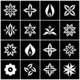 Floral icons. Design elements set. Symbolic flowers. Vector art vector illustration