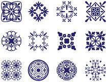 Floral Icons Royalty Free Stock Photography