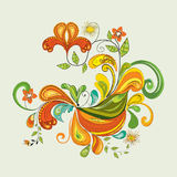 Floral illustration. Abstract floral element illustration background Royalty Free Stock Images