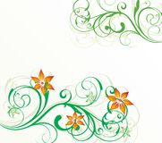Floral illustration Royalty Free Stock Image