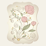 Floral illustration Stock Images