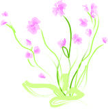 Floral illustration. Pretty floral illustration imitating hand drawn Royalty Free Stock Images