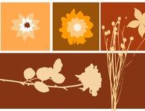 Floral illustration. Warm color scheme and symmetrical design stock illustration