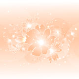 Floral illustration background. Abstract colorful background with flowers. Floral illustration Stock Photography