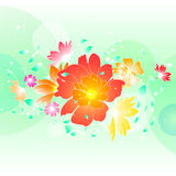 Floral illustration background. Abstract colorful background with flowers. Floral illustration Royalty Free Stock Photos