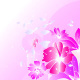 Floral illustration background. Abstract colorful background with flowers. Floral illustration Royalty Free Stock Image