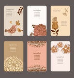 Illustration business card Stock Image