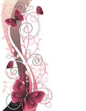 Floral illustration with butterflies Stock Photos