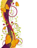 Floral illustration with butterflies Royalty Free Stock Photo