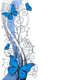 Floral illustration with butterflies Royalty Free Stock Photography