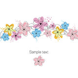 Floral illustration card Stock Images