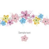 Floral illustration card. Floral illustration background card design Stock Images