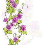Floral illustration. Few flowers on white background Stock Photos