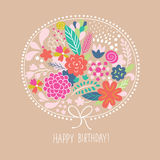 Floral illustration, greeting card Royalty Free Stock Image
