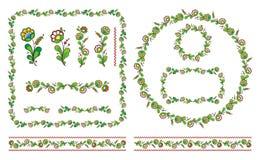 Floral  illustration set Royalty Free Stock Images