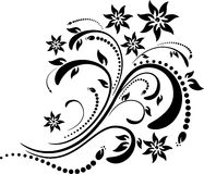 Floral image. Many decorative elements. Isolated on a white background. Vector will be additional Stock Photography