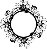 Floral image. Many decorative elements. Isolated on a white background. Vector will be additional Stock Photos