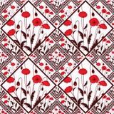 Floral inconsútil abstracto del remiendo, fondo de la luz de la textura del modelo Flores delicadas Imagen de archivo libre de regalías