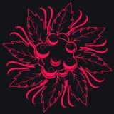 Floral inconsútil oscuro Fotografía de archivo