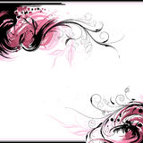 Floral Ink Background. Editable vector illustration Royalty Free Stock Photos