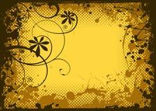 Floral ink grunge Stock Photos