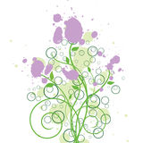 Floral Ink Grunge Design Royalty Free Stock Photo