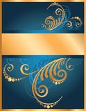 Floral Invitation Stock Photography