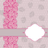 Floral invitation background design Royalty Free Stock Photography