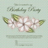 Floral invitation birthday Stock Images