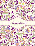 Floral invitation card Royalty Free Stock Images
