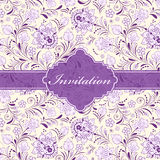 Floral invitation card Royalty Free Stock Photography