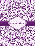 Floral invitation card Stock Photos