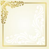Floral invitation card. Stock Image