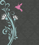 Floral invitation card with bird Stock Image