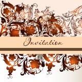 Floral invitation card in elegant style stock illustration